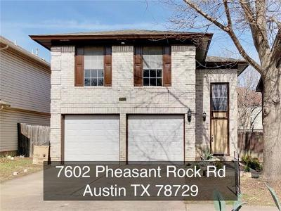 Single Family Home For Sale: 7602 Pheasant Rock Rd