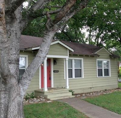 Single Family Home For Sale: 1600 Houston St