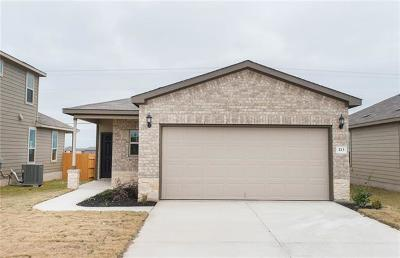 Jarrell TX Single Family Home For Sale: $184,180