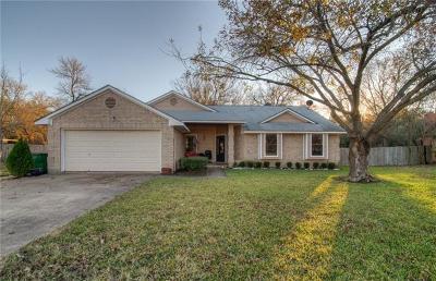 Cedar Park Single Family Home Pending - Taking Backups: 509 Grapevine Dr