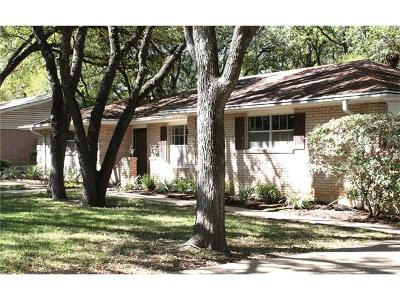 Austin Single Family Home For Sale: 1600 Barton Hills Dr