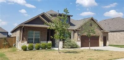 Round Rock Single Family Home For Sale: 2928 San Milan Pass