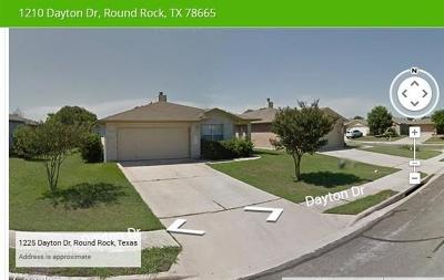 Round Rock Single Family Home For Sale: 1210 Dayton Dr