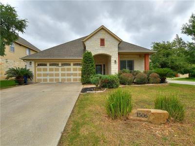 Cedar Park Single Family Home For Sale: 1506 Liberty Oaks Blvd