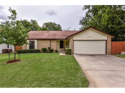 Round Rock Single Family Home Pending - Taking Backups: 2405 Windsong Trl
