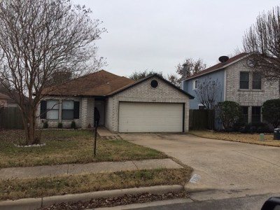 Round Rock Single Family Home Pending - Taking Backups: 3109 Hailey Ln