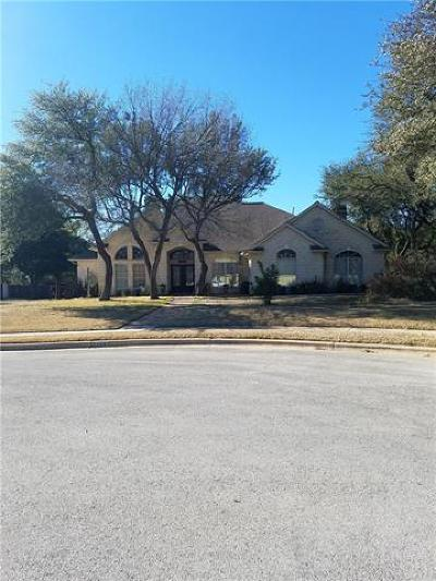 Round Rock Single Family Home Pending - Taking Backups: 3604 Nicholaus Cv E