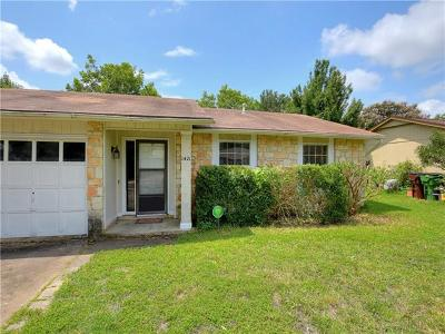Round Rock Single Family Home Pending - Taking Backups: 1421 Normeadows Cir