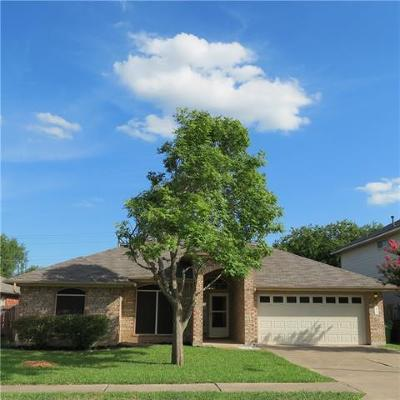 Round Rock Single Family Home For Sale: 3717 Cheyenne St