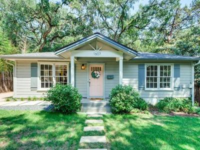 Austin Single Family Home For Sale: 1607 Exposition Blvd