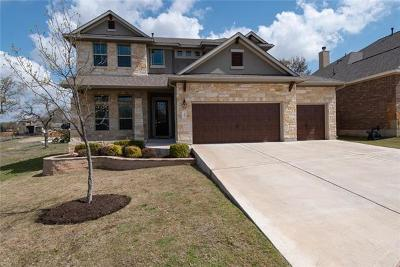 Round Rock Single Family Home For Sale: 3985 Cole Valley Ln