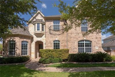 Round Rock Single Family Home For Sale: 3019 Hidden Bluff Cv
