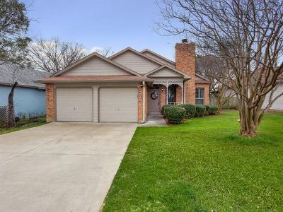 Travis County Single Family Home Pending - Taking Backups: 14907 Alpha Collier Dr