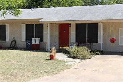 Round Rock Single Family Home For Sale: 1401 Circle Dr