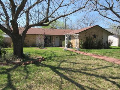 Round Rock Single Family Home For Sale: 1706 Wagon Gap Dr