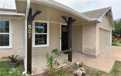 Cedar Park Single Family Home For Sale: 507 Russet Valley Dr