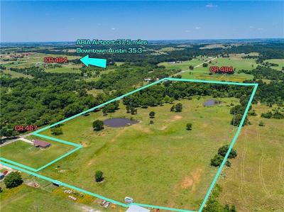 Bell County, Burnet County, Coryell County, Lampasas County, Llano County, McLennan County, Mills County, San Saba County, Williamson County Farm For Sale: 4605 County Road 467