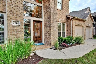 Leander Single Family Home For Sale: 1800 Tall Chief