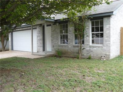 Round Rock Single Family Home For Sale: 1505 Primrose Trl
