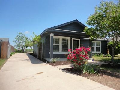 Manor Single Family Home Pending - Taking Backups: 17820 Powder Creek Dr
