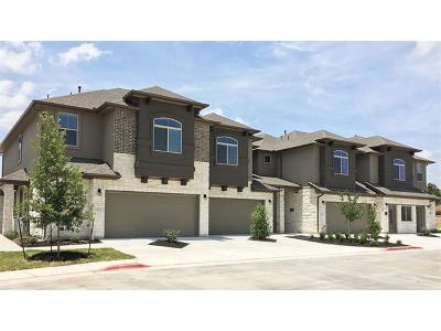 Round Rock Condo/Townhouse For Sale: 2880 Donnell Dr #902