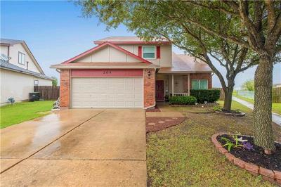 Hutto Single Family Home For Sale: 208 Mallard Cv