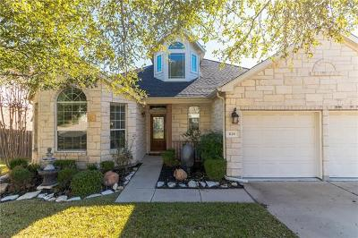 Cedar Park Single Family Home Pending - Taking Backups: 3126 Argento Pl