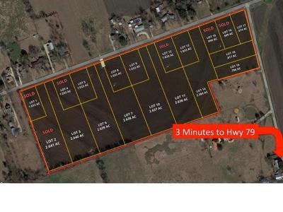 Taylor Residential Lots & Land For Sale: 1504 Old Thorndale Rd