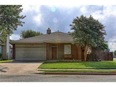 Round Rock Single Family Home For Sale: 2300 Wisteria Way