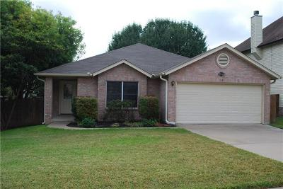 Round Rock Rental For Rent: 1187 Southern Pl
