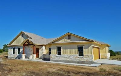 Burnet County Single Family Home For Sale: Lot 64 Three Creeks Dr