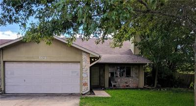 Hays County, Travis County, Williamson County Single Family Home For Sale: 504 Blackberry Dr