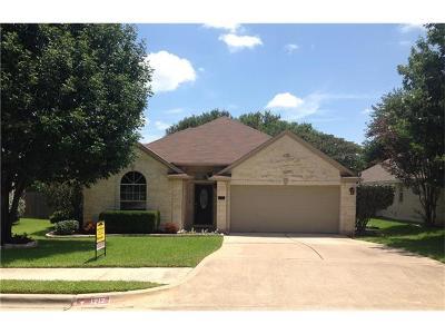 Cedar Park Single Family Home For Sale: 1212 Heppner Dr