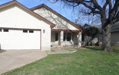 Round Rock Single Family Home For Sale: 1702 Wild Horse Ln