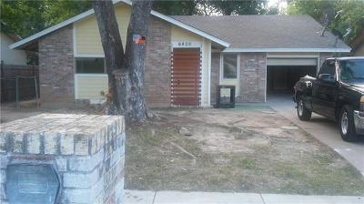 Single Family Home For Sale: 6409 Moonglow Dr