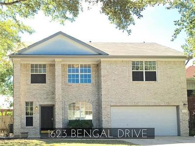 Round Rock Rental For Rent: 1623 Bengal Dr