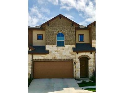 Round Rock Condo/Townhouse For Sale: 1001 Zodiac Ln #16