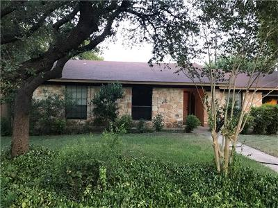 Round Rock Single Family Home Pending - Taking Backups: 1105 Lime Rock Dr