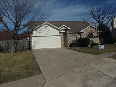 Hutto Single Family Home For Sale: 205 Mallard Cv