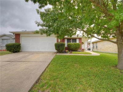 Round Rock Single Family Home Pending - Taking Backups: 3704 Julianas Way