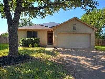 Round Rock Single Family Home For Sale: 1710 Bengal Dr