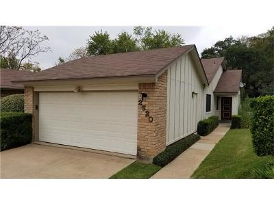 Travis County Condo/Townhouse Pending - Taking Backups: 2520 W Stoutwood Cir W