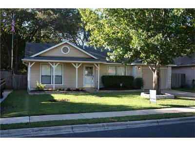 Round Rock Single Family Home For Sale: 1805 Primrose Trl
