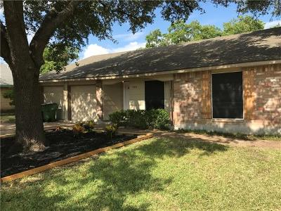 Round Rock Single Family Home For Sale: 1404 N Georgetown St