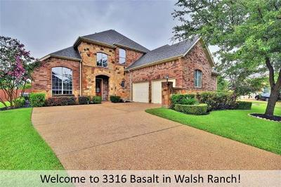 Round Rock Single Family Home Pending - Taking Backups: 3316 Basalt Cv