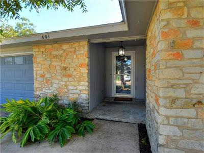 Round Rock Single Family Home Pending - Taking Backups: 601 Cambridge Dr