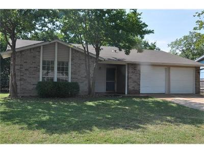 Round Rock Single Family Home Pending - Taking Backups: 1504 Sagebrush