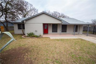 Round Rock Single Family Home For Sale: 1206 Meadows Dr