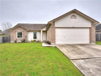 Hutto Single Family Home Pending - Taking Backups: 202 Little Lake Rd