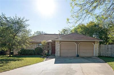 Round Rock Single Family Home Pending - Taking Backups: 503 Dry Creek Cv